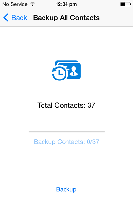How to Backup Contacts On iPhone 5 - Select Contacts
