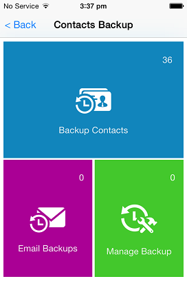 How to Backup Contacts On iPhone 5 - Select Backup Contacts